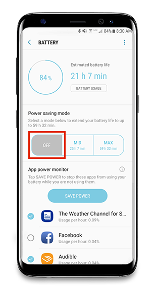 Android Battery & Data Settings – Frontline Jobulator