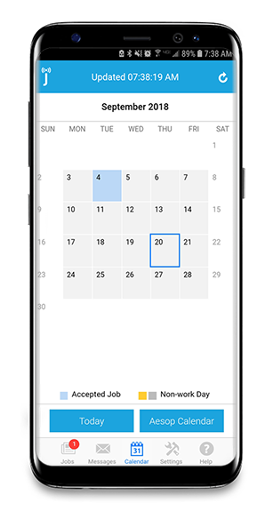 Android Calendar.Using Your Calendar Android Frontline Jobulator